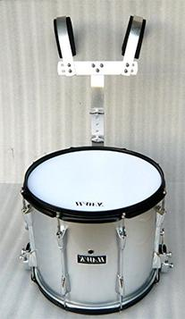 """NEW SILVER COLOR MARCHING SNARE DRUM 14""""x 11"""