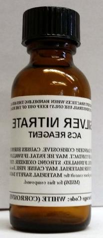 Silver Nitrate 10g Glass Bottle High Purity