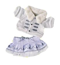 "Silver ""White Winter"" Outfit Teddy Bear Clothes Outfit Fits"