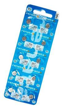 Renata #364 Silver Oxide Battery - 10 Pack