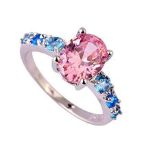 Psiroy Women's 925 Sterling Silver 2ct Pink & Blue Topaz