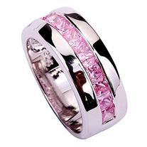 Psiroy Women's 925 Sterling Silver 1.5cttw Pink Topaz Half