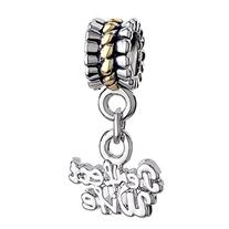 Pugster Silver Plated Spacer Flower Dangle Words Perfect