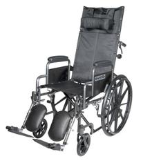 Silver Sport Reclining Wheelchair with Detachable Desk