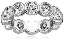 Michael Kors Silver-Tone Circles Ring, Size 7