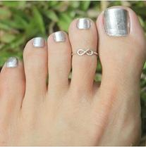 LuckyFine Simple Retro Design Toe Ring Adjustable Foot
