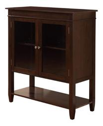 Simpli Home Carlton Medium Storage Cabinet, Dark Tobacco