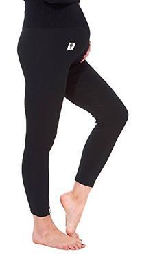 Simplicity Maternity Cotton Over Bump Leggings, Black,XL