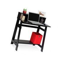 Simplistic Computer Desk with Built-in Hutch, Espresso