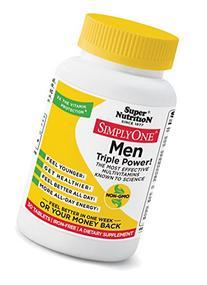 Super Nutrition Simply One Men Triple Power, Tablets, 30 ea