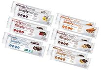 Simply Protein Bar 6 Flavor Variety Pack, Gluten Free and