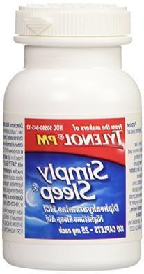Tylenol Simply Sleep Nighttime Sleep Aid , 100-Count Caplets