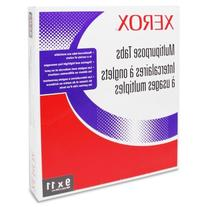 "Xerox Single Reverse Collated Index Tabs 1-5, 9"" x 11"", 1250"