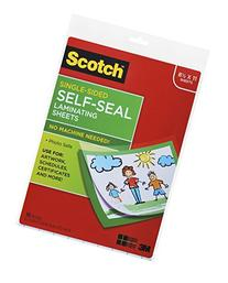 Scotch Single-Sided Laminating Sheets, 9 x 12-Inches, Letter