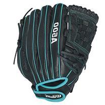 Wilson Siren Fastpitch Softball Glove 12 inch , Black/Teal