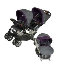 Baby Trend Sit N Stand Double Stroller Travel System -