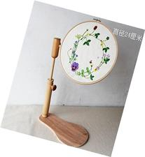 WRMHOM Sit-On Round Embroidery Lap Frame Dia24cm High