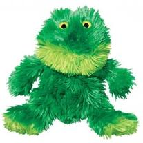KONG Plush Frog Toy, Small, Green