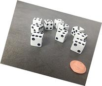 Set of 10 Six Sided D6 16mm Standard Dice Die - White with