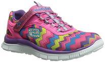 Skechers Kids Skech Appeal Align Strap Sneaker ,Pink Rainbow