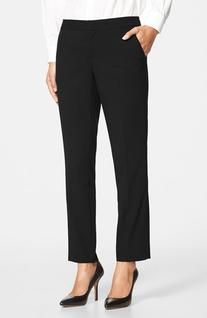 Women's  Skinny Ankle Pants, Size 8 - Black