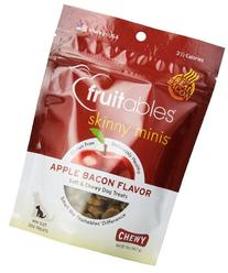Fruitables Skinny Minis Soft & Chewy Dog Treats Apple Bacon