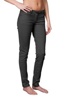Women's Skinny Tapered Cut Plus-Sized Stretch Jeans Charcoal