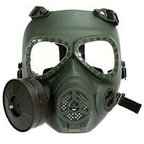 Coofit Skull Style Gas Mask for Outdoor War Games - Green