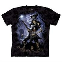 The Mountain Skullbone Play Dead Skeleton Guitar Tshirt