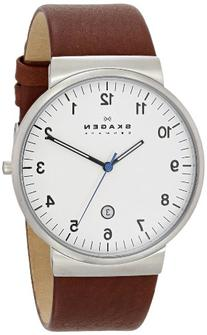Skagen Men's 'Klassik' Quartz Stainless Steel and Leather