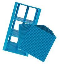"Premium Sky Blue Stackable Base Plates - 10 Pack 6"" x 6"""