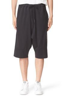 Men's Y-3 Skylight Grommet Vented Shorts, Size Large - Black
