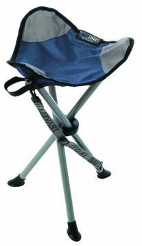 TravelChair Slacker Chair Folding Tripod Camp Stool, Blue