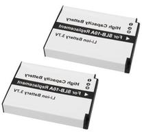 2-Pack SLB-10A High-Capacity Replacement Battery for Samsung