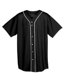NB4184 A4 Youth Short Sleeve Full Button Baseball Top