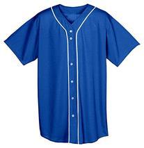 A4 Men's Short Sleeve Full Button Baseball Top