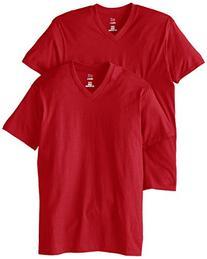 Hanes Men's Nano Premium Cotton V-Neck T-Shirt Pack of 2,