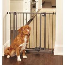 "Slide-Step and Open Pressure Mounted Steel Gate 28"" - 38.5"""
