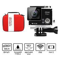 SportShot® Slim 2'' Wifi HD 1080P Waterproof Sports Camera