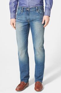 Men's Robert Graham 'Double Up' Slim Fit Jeans, Size 42 x 34