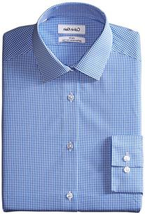 Calvin Klein Men's Slim Fit Non Iron Gingham Spread Collar