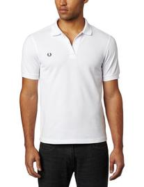 Fred Perry Men's Slim Fit Plain Shirt, White, Large