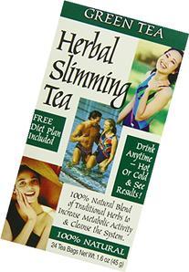 21st Century Slimming Tea, Green Tea, 24 Count