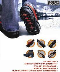 Hot Headz No-Slip Ice Cleats, Black, Medium