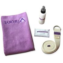 Aurorae Yoga 4 Piece Bundle. includes Yoga Strap,Microfiber