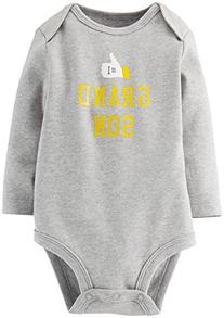 Carter's Slogan Bodysuit  - Heather-Newborn