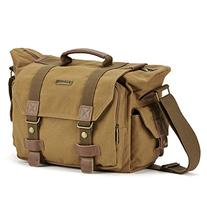 SLR Camera Bag, Evecase Large Canvas Messenger SLR/DSLR