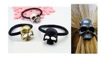 Smile Westen Vintage Punk Metal Skull Elastic Hair Bands