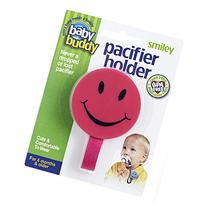 Baby Buddy 2 Piece Smiley Pacifier Holder for Boys & Girls,