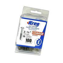 Kreg SML-C125-100 1-1/4-Inch 8-Coarse Washer-Head Pocket